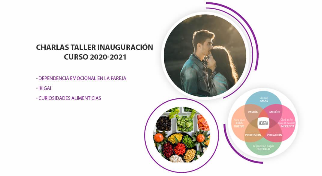 Charlas Taller Inaguración Curso 2020-2021